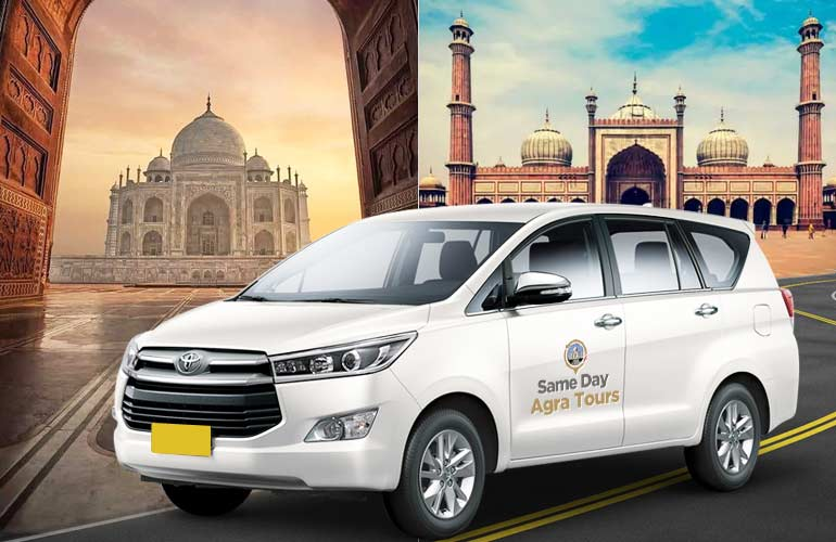 Agra to Delhi One Way Taxi