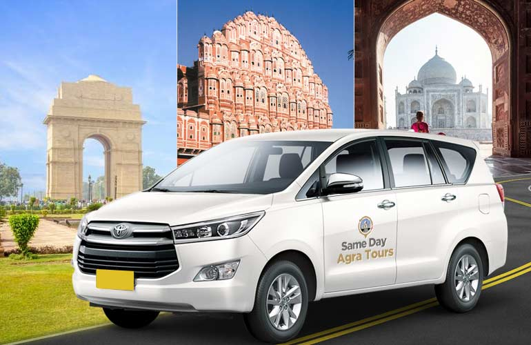 Delhi to Jaipur via Agra One Way Taxi